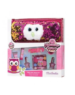 Martinelia Shimmer Paws Owl Pencil Case & Beauty Set