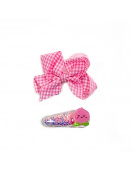 HAIR CLIP BOW AND FRUIT
