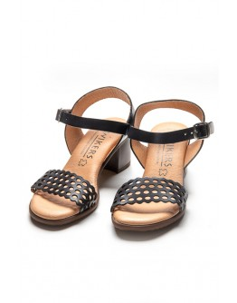 BLACK WIKERS SANDALS