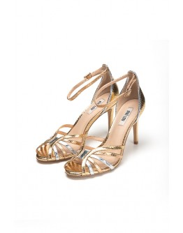 SANDALS GOLD/SILVER BIBI LOU