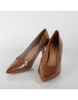 CROCO LOW HEELS TABITA