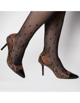 SNAKESKIN LEATHER HEELS TABITA