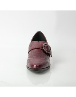 FLAT BORDEAUX WITH BUCKLE