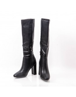 BLACK LEATHER BOOTS KHARISMA