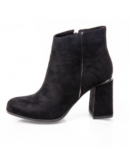 SUEDE BLACK BOOTIES KHARISMA
