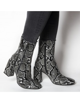 BOOTIES SNAKESKIN ANTHRACITE
