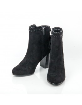 BLACK BOOTIES SUEDE WITH TASSEL AZAREY