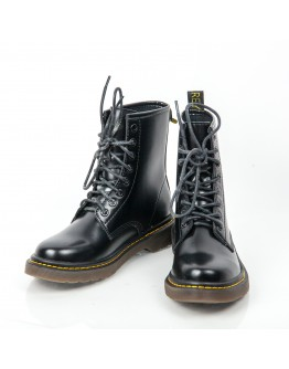LEATHER SOLDIER BOOTIES AZAREY