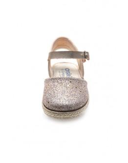 Baby's Platinum Glitter Espadrilles
