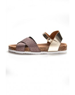 BIO SANDALS WITH GLITTER AND STRAPS