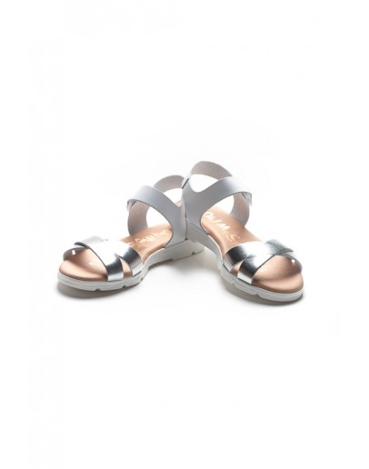 SILVER/WHITE SANDALS Oh! My Sandals