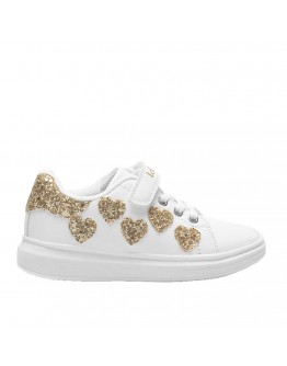 LELLI KELLY SNEAKERS WITH GLITTER HEARTS