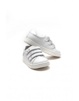 CHICCO WHITE SNEAKERS WITH GLITTER